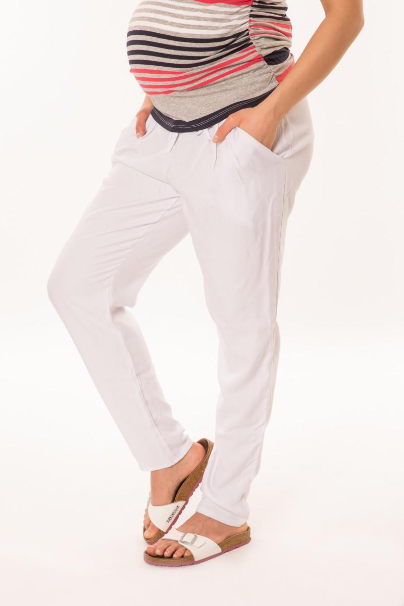 Laza kismama nadrág vékony, fehér
