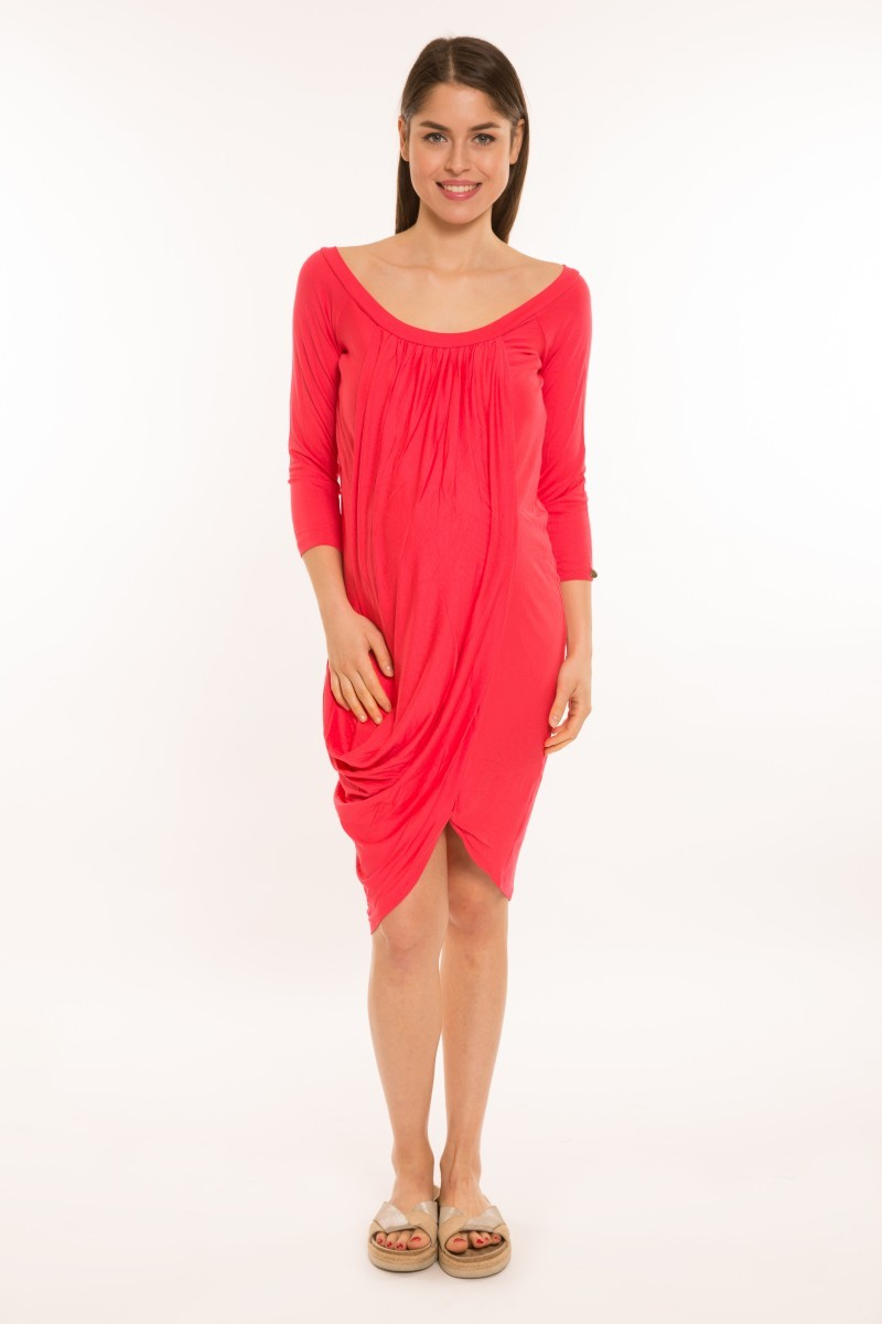 Átlapolós kismama ruha piros