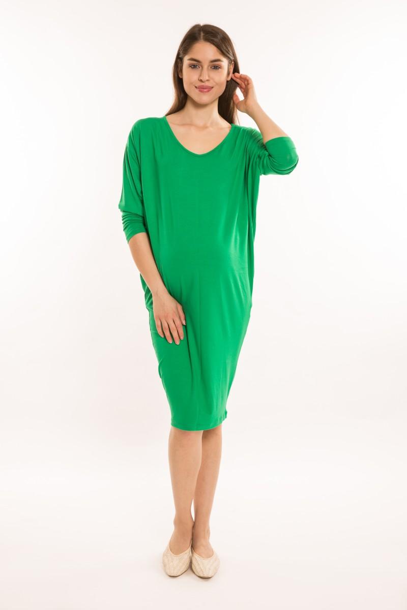 Denevér kismama ruha zöld