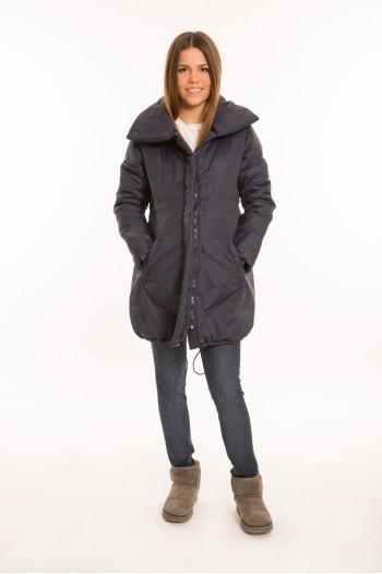 Sálgalléros kismama kabát fekete