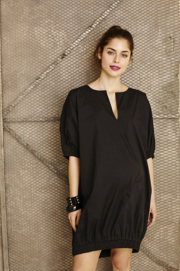 Polli tunika-ruha fekete