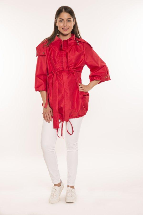 Kismama esőkabát piros