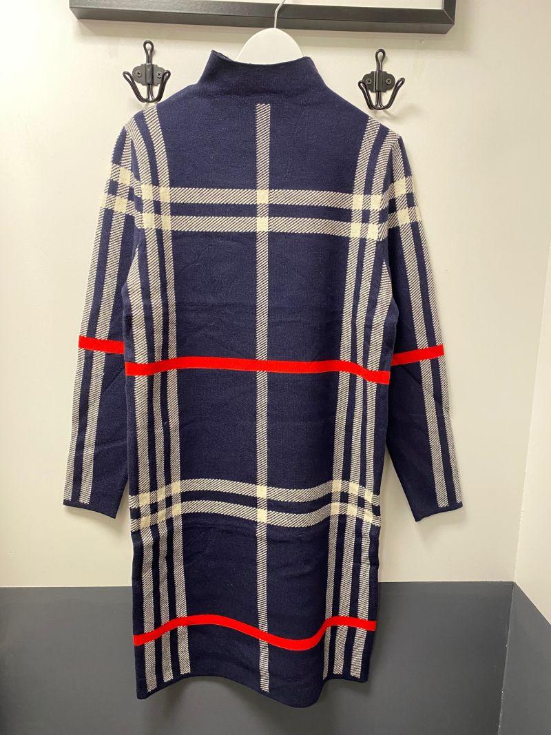 Kötött ruha kék bubi mintás