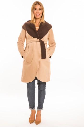 Marita kismama kabát beige-barna