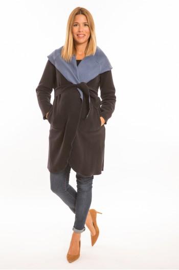 Marita kismama kabát sötét kék-világos kék