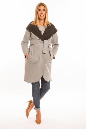 Marita kismama kabát szürke-fekete