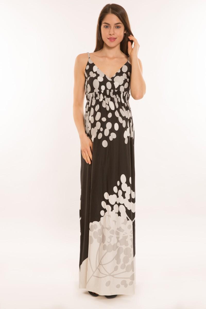 Márti ruha fekete/szürke kör