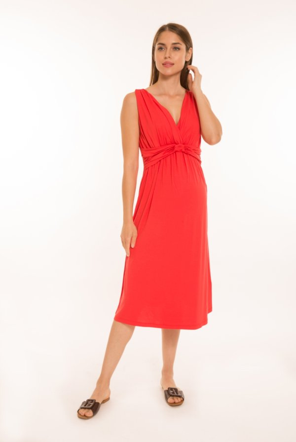 Mia kismama ruha rövid piros