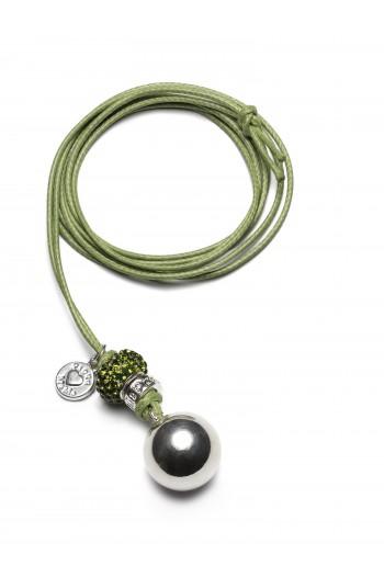 Kismama nyaklánc babybell bling moha zöld