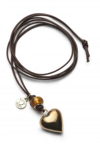 Kismama nyaklánc basic arany szív