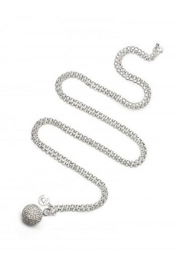 Kismama nyaklánc ezüstözött kristály
