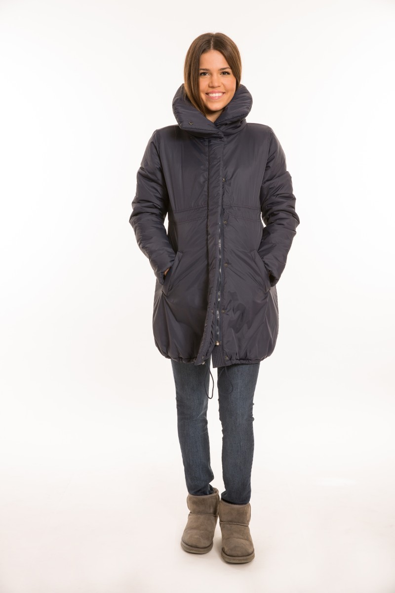 Sálgalléros kismama kabát  KÉK