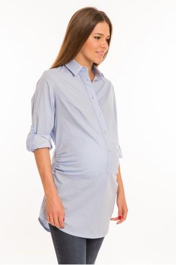 Sarek kismama - blúz világos kék pöttyös