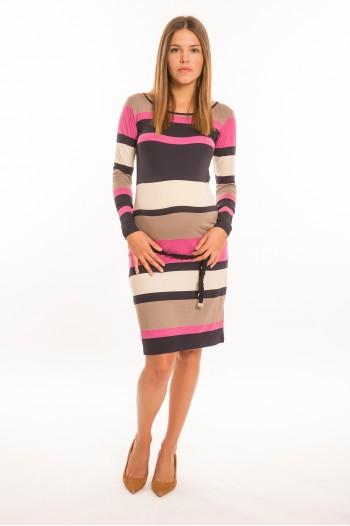f23a0b47ad Matyi kismama ruha hosszú ujjú pink-kék-bézs csíkos | Ruhák | HelloBaby  Collection | Éppen a hellobabycollection.com oldal Ruhák kategóriáját  böngészed.